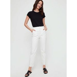Aritzia The Group by Babaton Zoey Pant High Waisted Cotton Twill White Pants